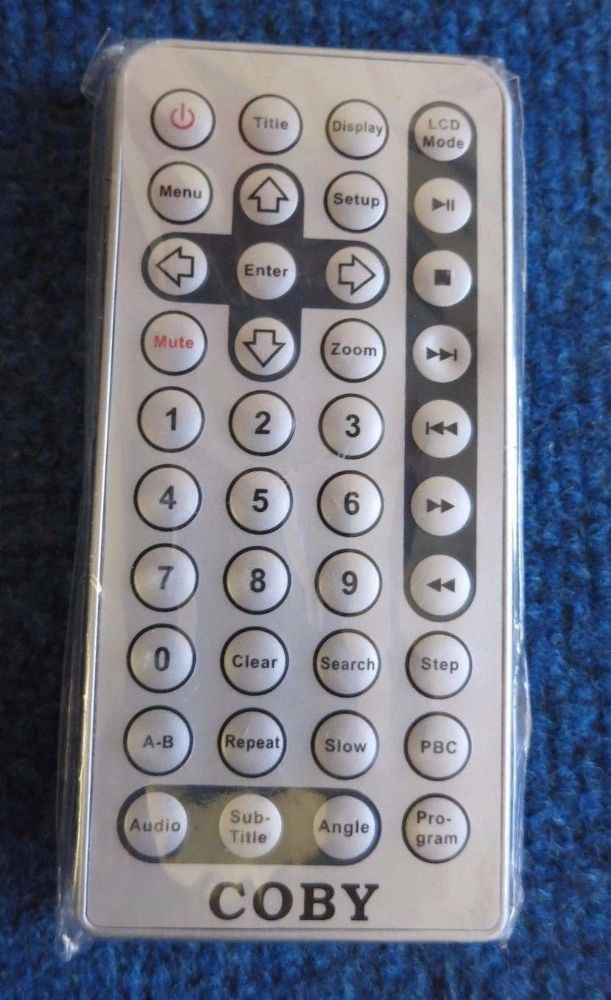 Coby JX-2001B New Remote Control for TF-DVD7100 TF-DVD8501 TF-DVD7050 TF-DVD8500